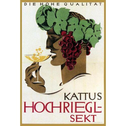 """JUNIQE Glasbild Vintage """"Hochriegel Sekt"""" von JUNIQE - Künstler: Vintage Art Archive"""