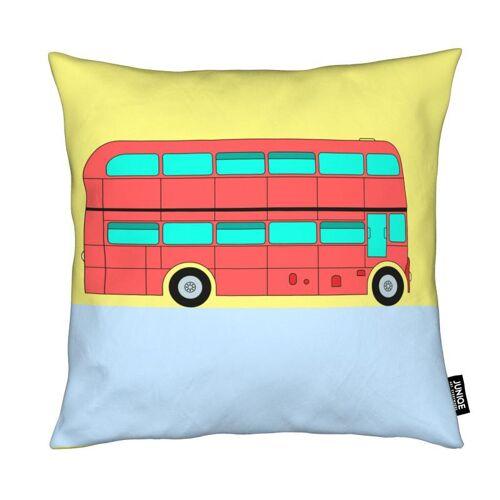 """JUNIQE Deko Kissen London """"London Bus Tour"""" von JUNIQE"""