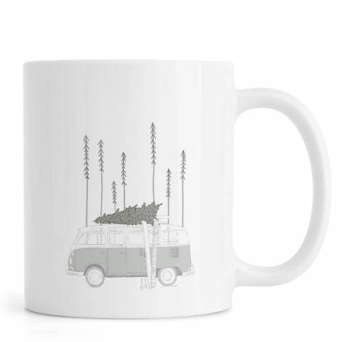 """JUNIQE Tassen Autos """"Winter Van"""" von JUNIQE"""