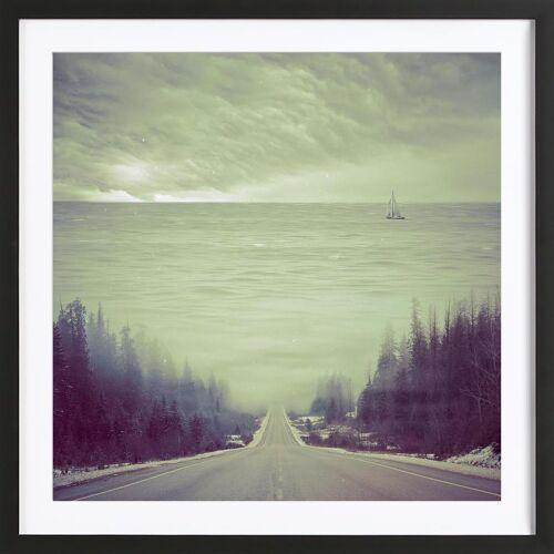 """JUNIQE Bild Abstrakte Landschaften """"Dubcism"""" von JUNIQE - Künstler: Eugene Soloviev"""