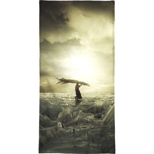 """JUNIQE Handtücher Ozeane, Meere & Seen """"Frozen Nation"""" von JUNIQE"""