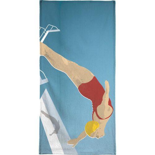 """JUNIQE Handtücher Schwimmen """"The Water's Fine"""" von JUNIQE"""