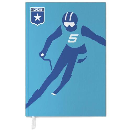 "JUNIQE Terminplaner 2021 Ski & Snowboard ""Slalom"" von JUNIQE"