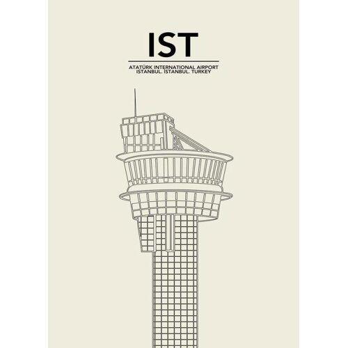 """JUNIQE Leinwandbild Istanbul """"IST Istanbul Tower"""" von JUNIQE - Künstler: 08left"""