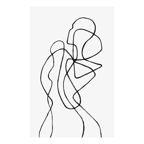 """JUNIQE Glasbild Menschen """"Figuratone"""" von JUNIQE - Künstler: Peytil"""