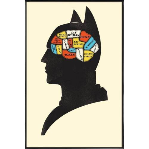 "JUNIQE Kunstdruck Batman ""Batman"" von JUNIQE - Künstler: Chris Wharton"