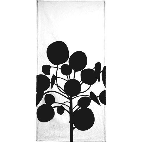 "JUNIQE Handtücher Blätter & Pflanzen ""Pilea"" von JUNIQE"