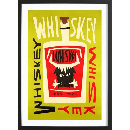 """JUNIQE Bild Whiskey """"Whiskey Whiskey"""" von JUNIQE - Künstler: Fox & Velvet"""