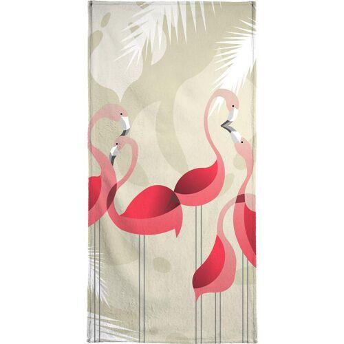"""JUNIQE Handtücher Flamingos """"Flamingo"""" von JUNIQE"""