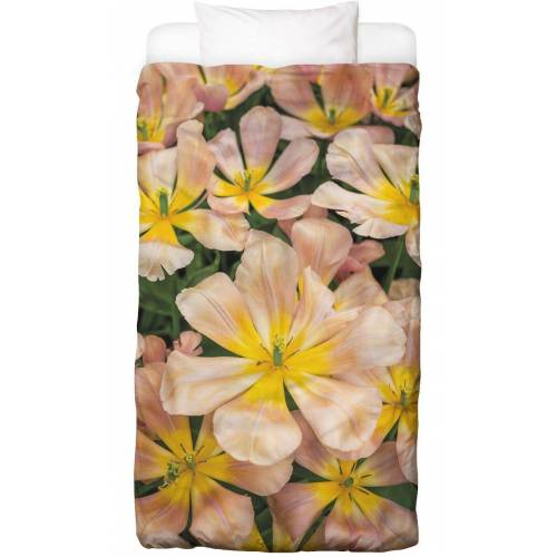 """JUNIQE Bettwäsche Tulpen """"Golden Tulips"""" von JUNIQE"""