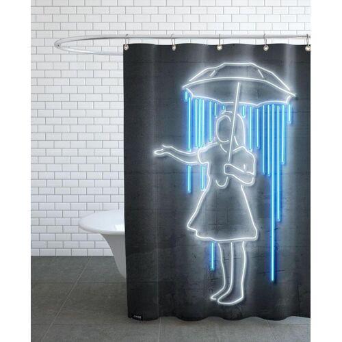 """JUNIQE Duschvorhang Lustig """"Umbrella Girl"""" von JUNIQE"""