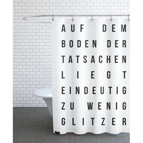 """JUNIQE Duschvorhang Zitate & Slogans """"Sabrina's Glitzer"""" von JUNIQE"""