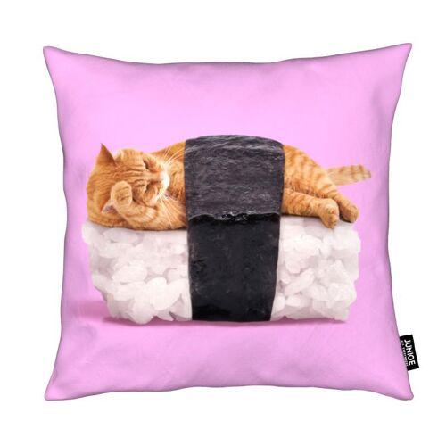 """JUNIQE Deko Kissen Katzen """"Sushi Cat"""" von JUNIQE"""