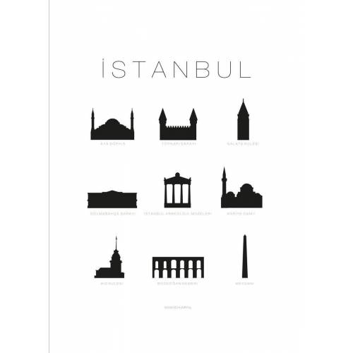 """JUNIQE Leinwandbild Istanbul """"Istanbul"""" von JUNIQE - Künstler: SCHUMFF"""