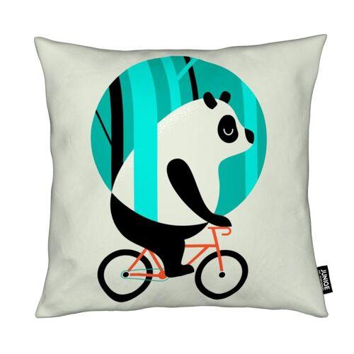 "JUNIQE Deko Kissen Pandas ""Panda Ride"" von JUNIQE"
