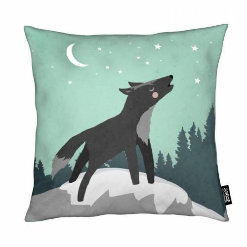 """JUNIQE Deko Kissen Wölfe """"Wolf"""" von JUNIQE"""