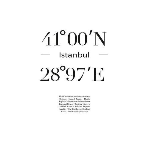"JUNIQE Leinwandbild Istanbul ""Istanbul"" von JUNIQE - Künstler: JUNIQE"