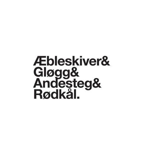 """JUNIQE Alu-Dibond bilder Weihnachten """"Æbleskiver & Rødkål"""" von JUNIQE - Künstler: JUNIQE"""