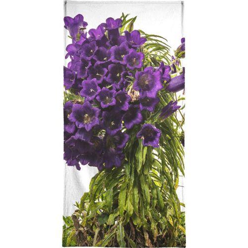 """JUNIQE Handtücher Blumen """"Flora - Glockenblume"""" von JUNIQE"""