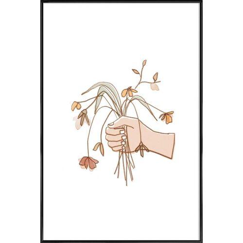 """JUNIQE Kunstdruck Blumen """"Verwelkter Strauss"""" von JUNIQE - Künstler: Farina Kuklinski"""
