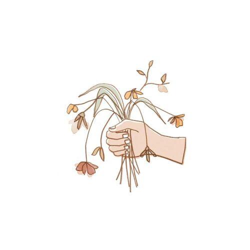"""JUNIQE Leinwandbild Blumen """"Verwelkter Strauss"""" von JUNIQE - Künstler: Farina Kuklinski"""