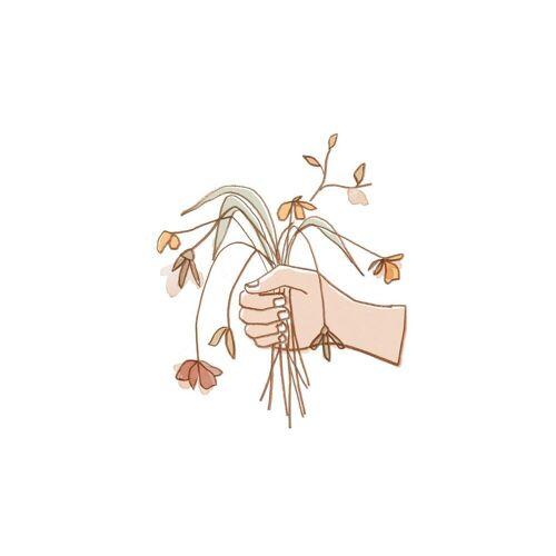 """JUNIQE Glasbild Blumen """"Verwelkter Strauss"""" von JUNIQE - Künstler: Farina Kuklinski"""