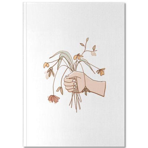 """JUNIQE Notizbuch Blumen """"Verwelkter Strauss"""" von JUNIQE - Notizheft Design"""