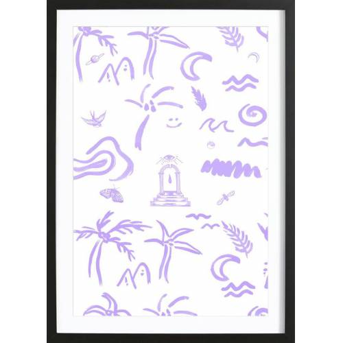 "JUNIQE Bild Muster ""4EVA"" von JUNIQE - Künstler: Daniela Roessler"