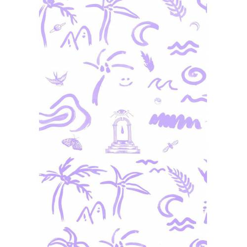 "JUNIQE Glasbild Muster ""4EVA"" von JUNIQE - Künstler: Daniela Roessler"