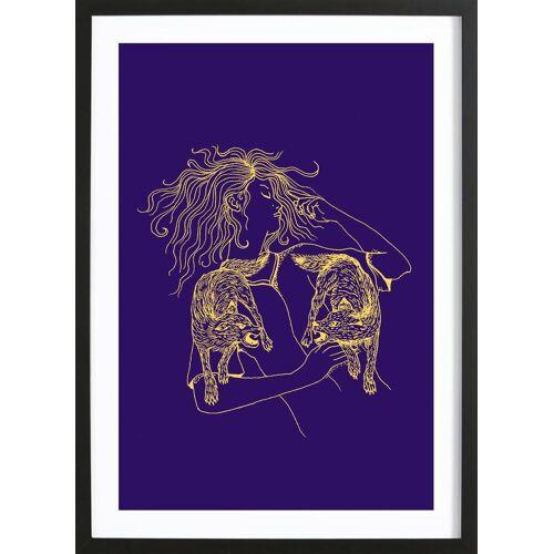 """JUNIQE Bild Wölfe """"Wolves"""" von JUNIQE - Künstler: Daniela Roessler"""