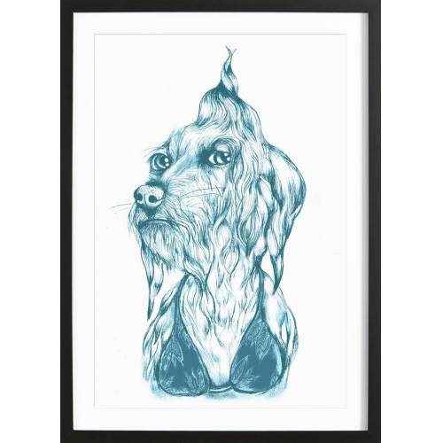 "JUNIQE Bild Hunde ""Bikini Bebe"" von JUNIQE - Künstler: Daniela Roessler"