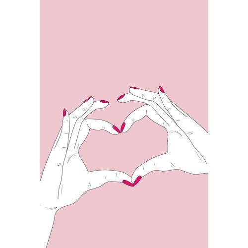 """JUNIQE Glasbild Herzen """"We Heart You"""" von JUNIQE - Künstler: GLOSSYBOX"""