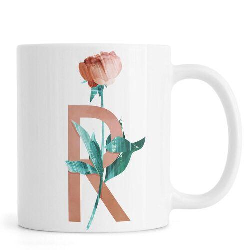 """JUNIQE Tassen Rosen """"R Rose"""" von JUNIQE"""