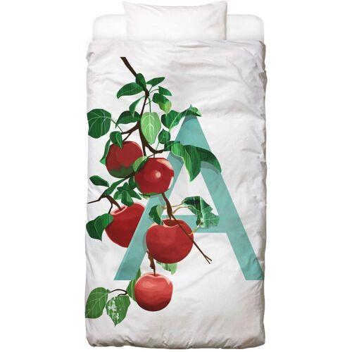 """JUNIQE Bettwäsche Früchte """"A Apple"""" von JUNIQE"""