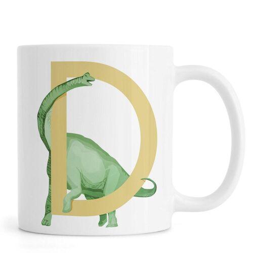 """JUNIQE Tassen Dinosaurier """"D Dino"""" von JUNIQE"""