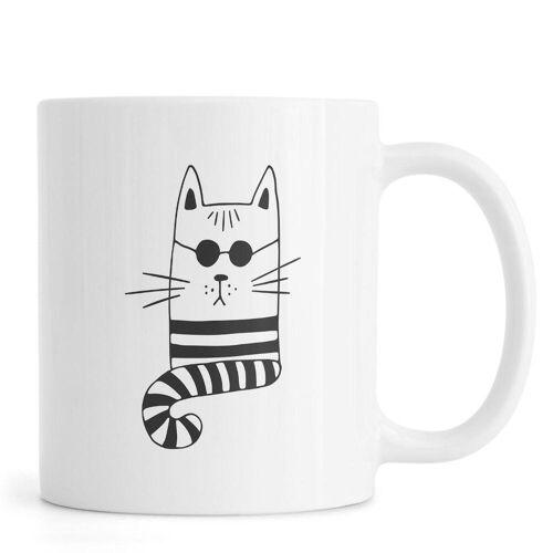 "JUNIQE Tassen Katzen ""Cool Cat"" von JUNIQE"
