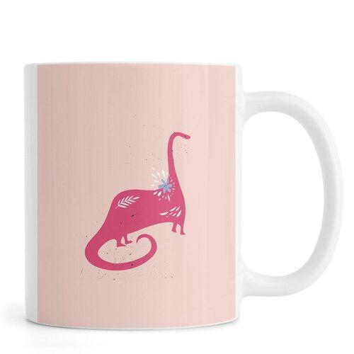 """JUNIQE Tassen Dinosaurier """"Pink Dinosaur"""" von JUNIQE"""