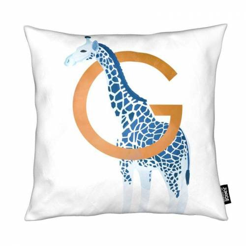"JUNIQE Deko Kissen Giraffen ""G Giraffe"" von JUNIQE"