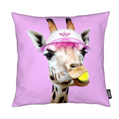 """JUNIQE Deko Kissen Giraffen """"Tennis Giraffe"""" von JUNIQE"""