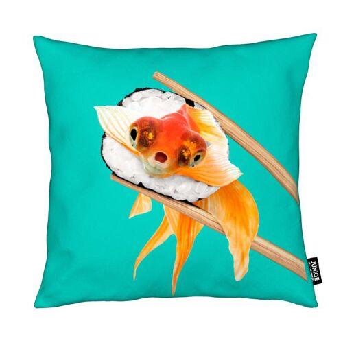 "JUNIQE Deko Kissen Fische ""Sushi Goldfish"" von JUNIQE"