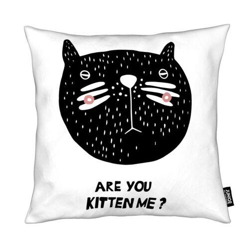 """JUNIQE Deko Kissen Katzen """"Are You Kitten Me?"""" von JUNIQE"""