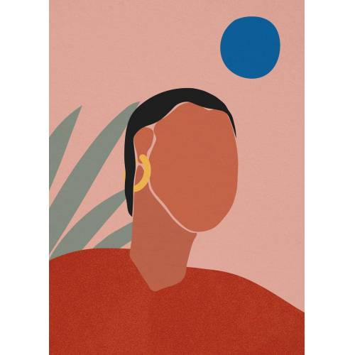 "JUNIQE Leinwandbild Porträts ""Portrait"" von JUNIQE - Künstler: Pure"