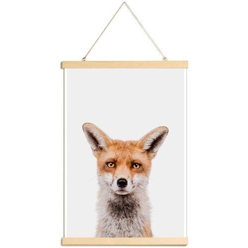 """JUNIQE Poster mit Posterleisten Füchse """"Fox"""" von JUNIQE - Künstler: Paws & Claws"""