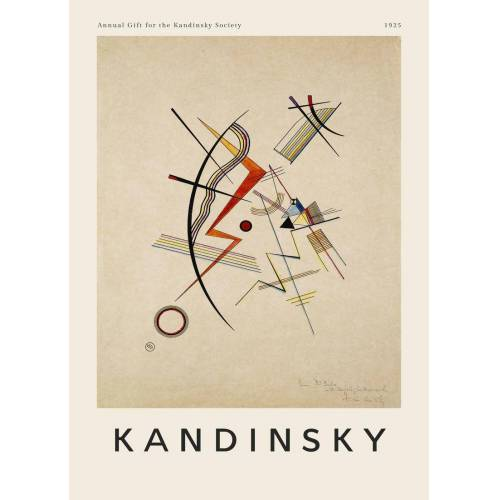 "JUNIQE Leinwandbild Wassily Kandinsky ""Kandinsky - Annual Gift for the Kandinsky Society"" von JUNIQE - Künstler: Art Classics"