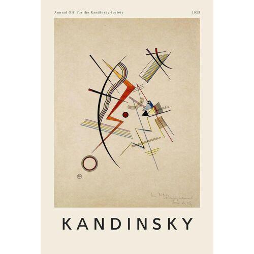 "JUNIQE Glasbild Wassily Kandinsky ""Kandinsky - Annual Gift for the Kandinsky Society"" von JUNIQE - Künstler: Art Classics"