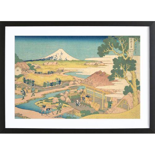 "JUNIQE Bild Japanisch inspiriert ""Hokusai - Fuji from the Katakura Tea Fields in Suruga"" von JUNIQE - Künstler: Art Classics"