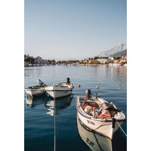 """JUNIQE Glasbild Reise """"Makarska by Reisevergnügen"""" von JUNIQE - Künstler: Reisevergnügen"""