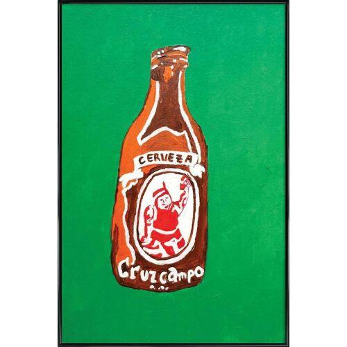 "JUNIQE Kunstdruck Bier ""Cerveza"" von JUNIQE - Künstler: Blanca Nuñez Pozuelo"