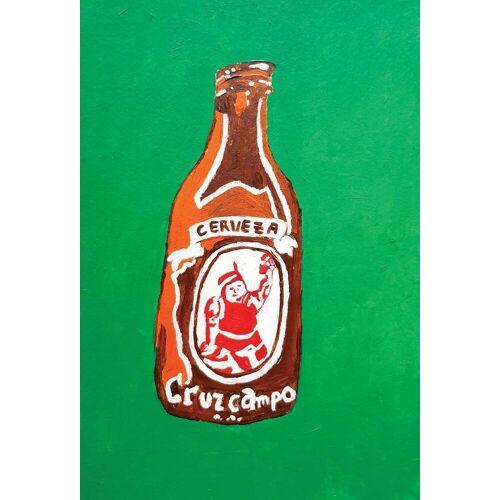 "JUNIQE Glasbild Bier ""Cerveza"" von JUNIQE - Künstler: Blanca Nuñez Pozuelo"