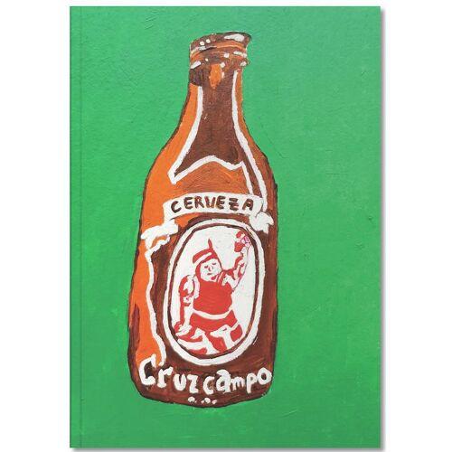 """JUNIQE Notizbuch Bier """"Cerveza"""" von JUNIQE - Notizheft Design"""